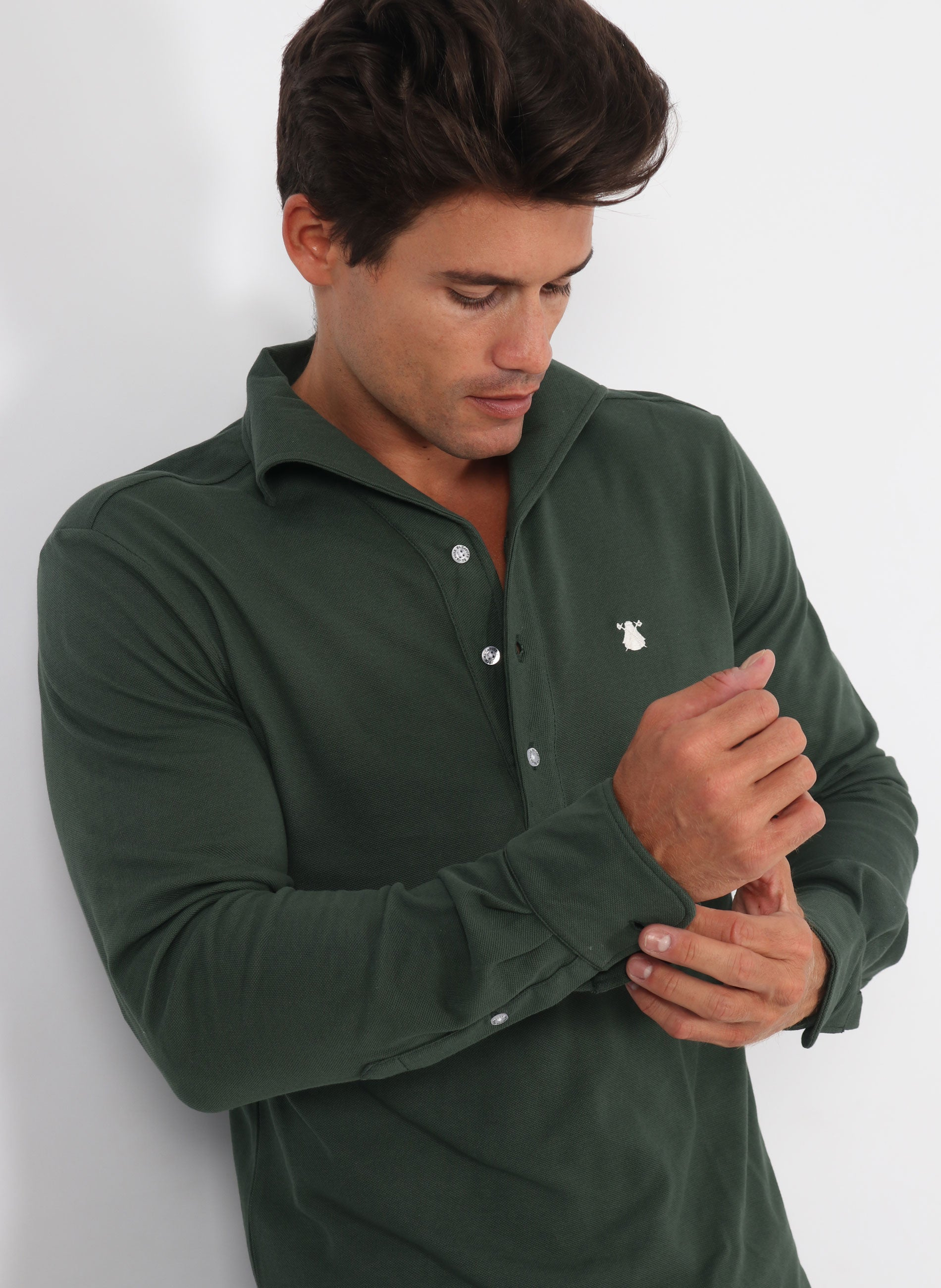Shirt Shirt Green Collar Condotti