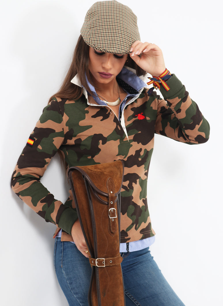 Polo Woman Camouflage Spain