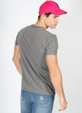 Men's Gray Round Neck T-shirt
