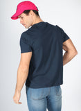Men's Navy Blue V-neck T-shirt