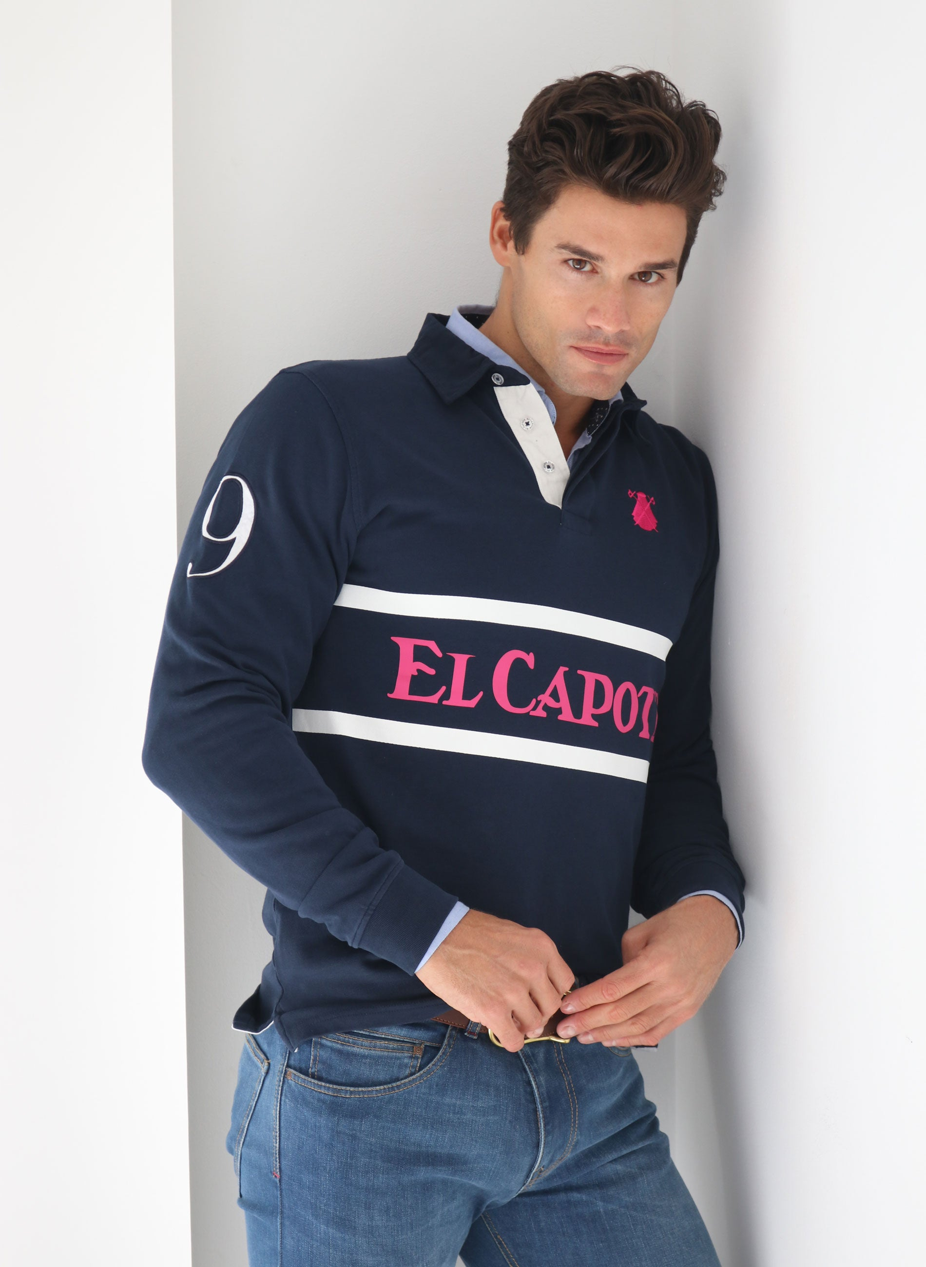 Rugby Polo Man Navy Blue
