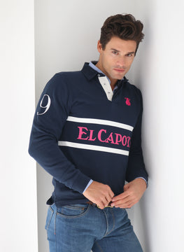 Rugby Polo Man Marineblau