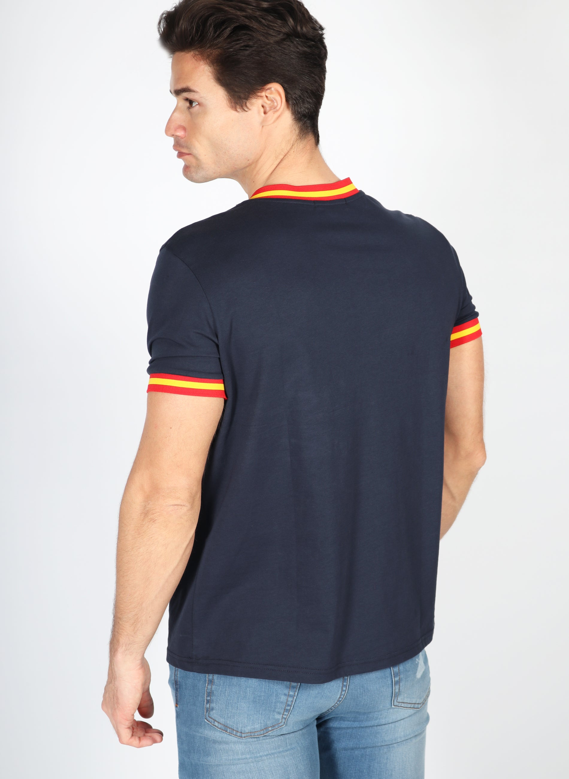 T-Shirt Navy Blue Ribbon Spanien Mann