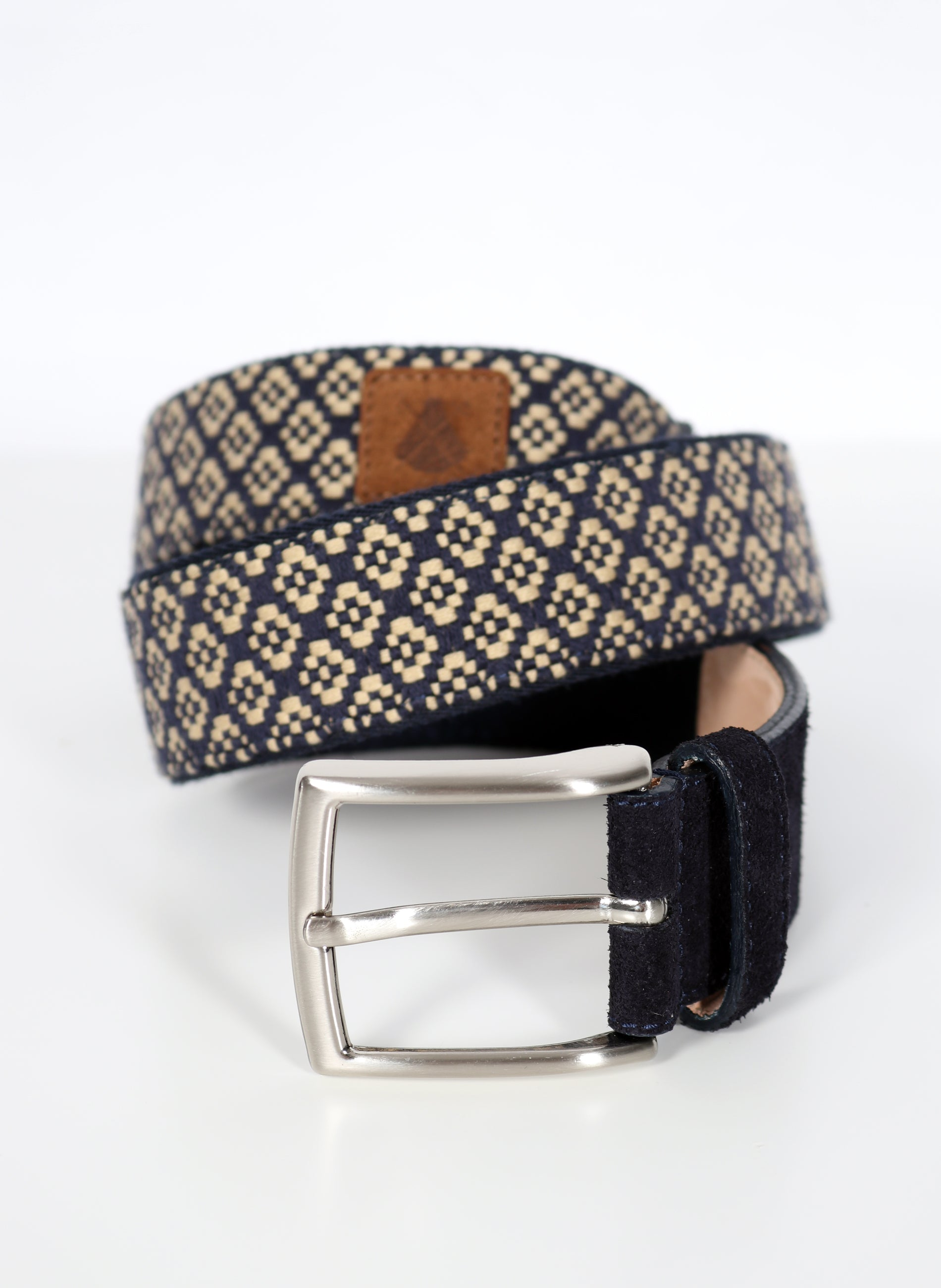 Navy Blue Camel Ethnic Belt