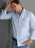 Mini Blue Gingham Check Shirt Man