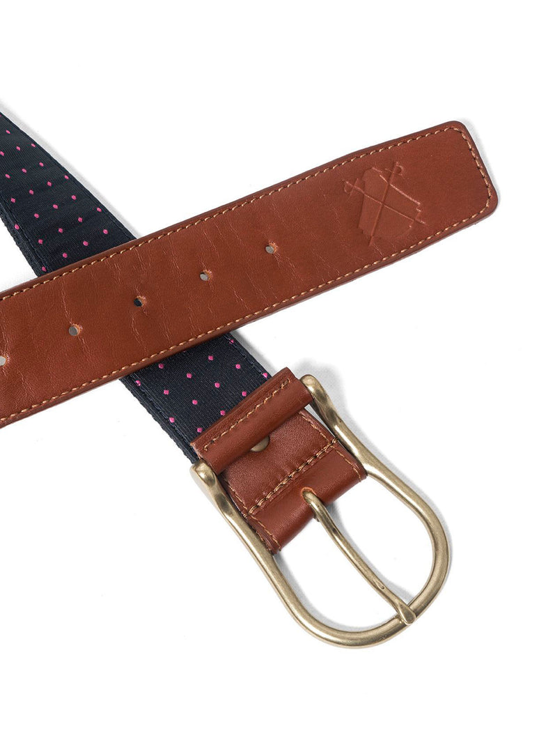 Roze Polka Dot Blue Belt