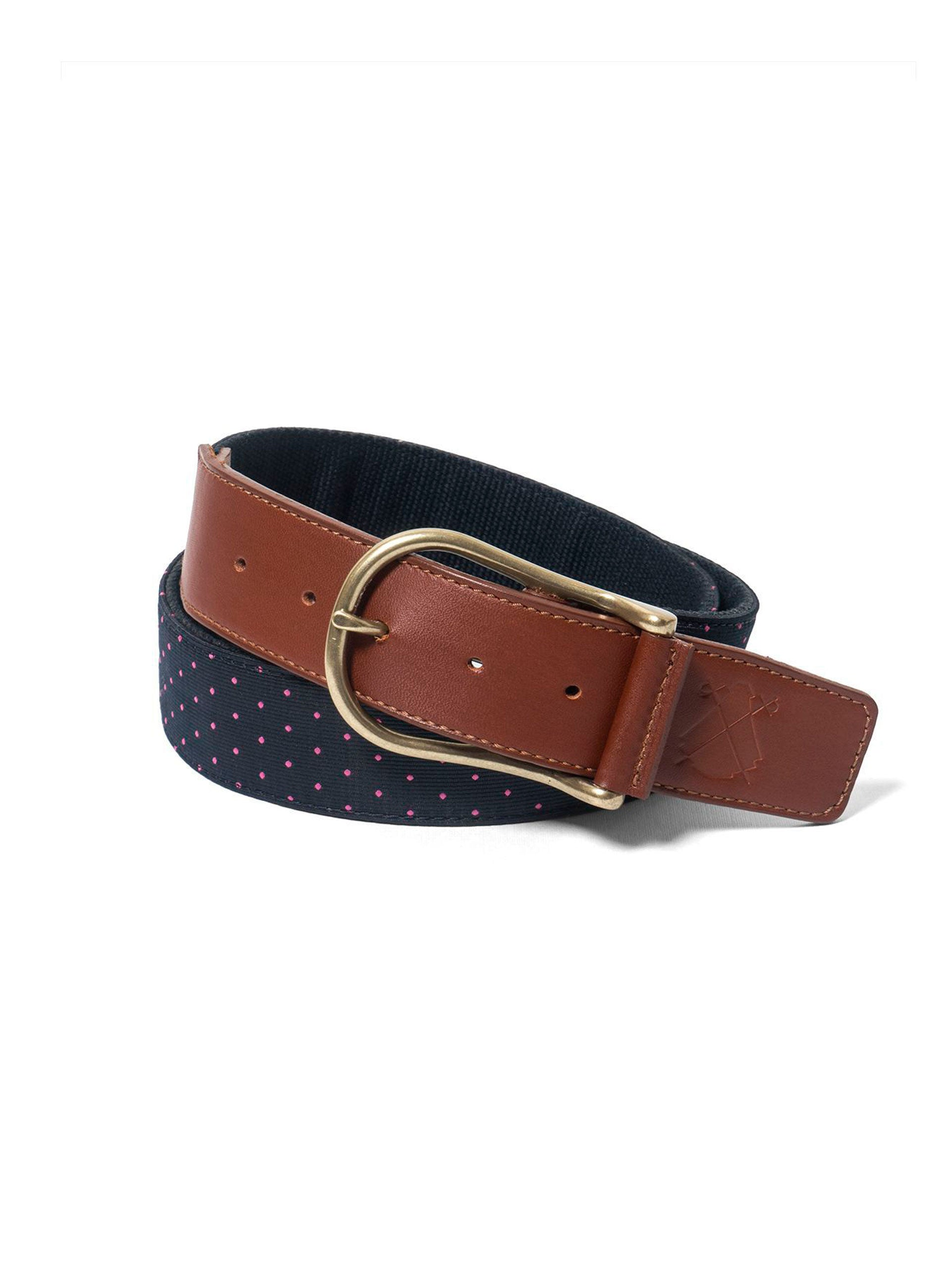 Pink Polka Dot Blue Belt