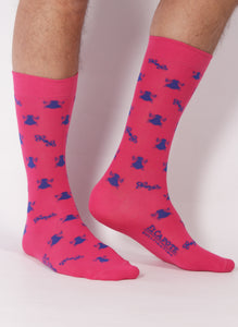 Sock Pink Capote Blue Ties