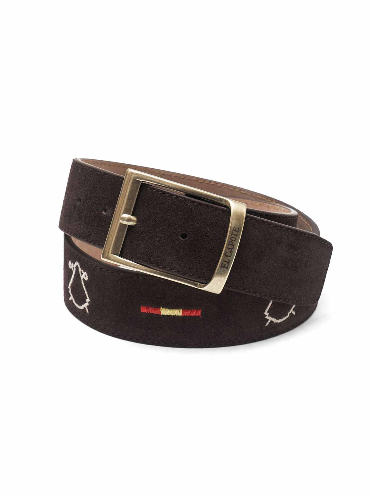 Serraje Belt Brown鬥牛士