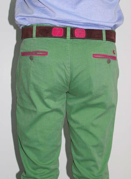GREEN CHINESE TROUSERS