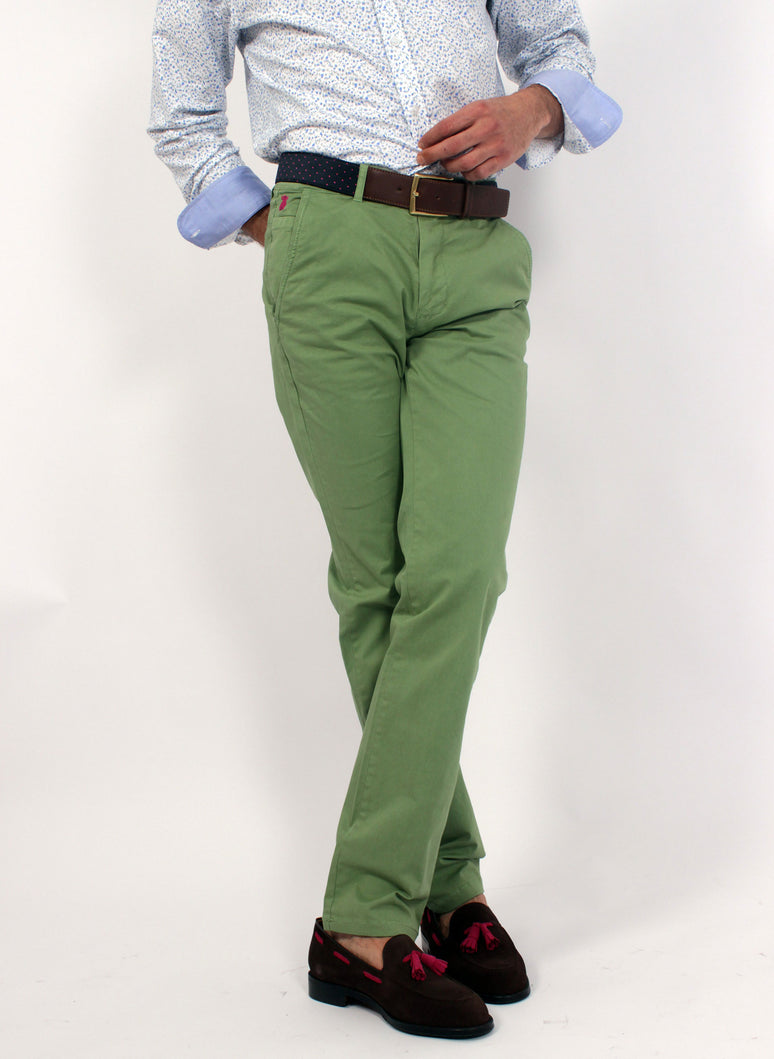 Green Chino Pants