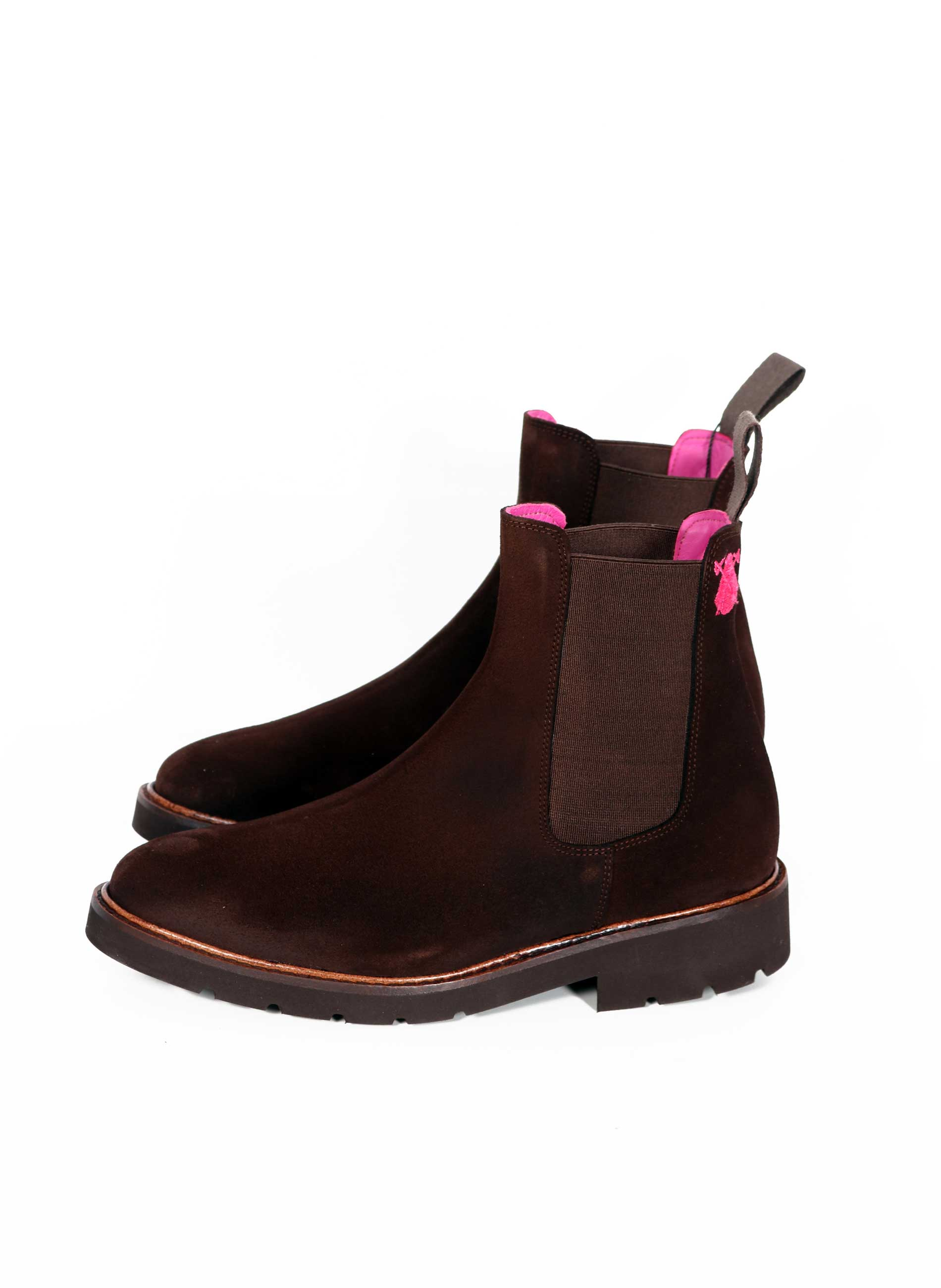 Valverde del Camino Chocolate Brown Nobuck Women's Ankle Boots