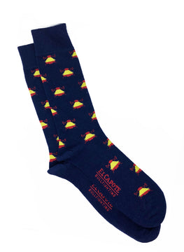 SOCKS NAVY BLUE LOGOS SPAIN