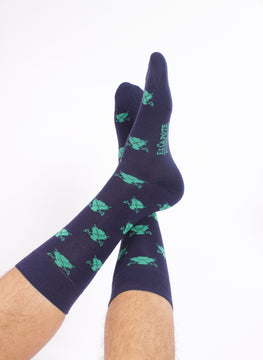Navy Blue Sock Logos Verdes