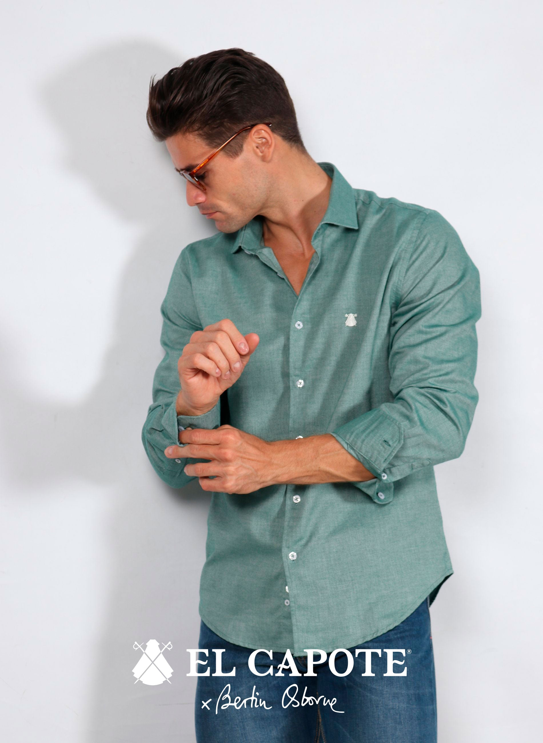Men's Green Double Thread Shirt x Bertín Osborne