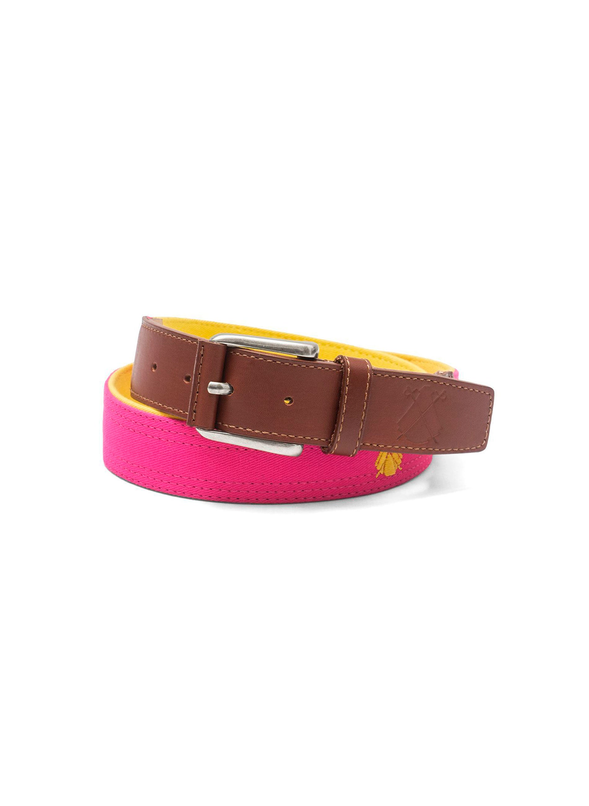 PINK BELT CAPOTE / YELLOW LOGOS