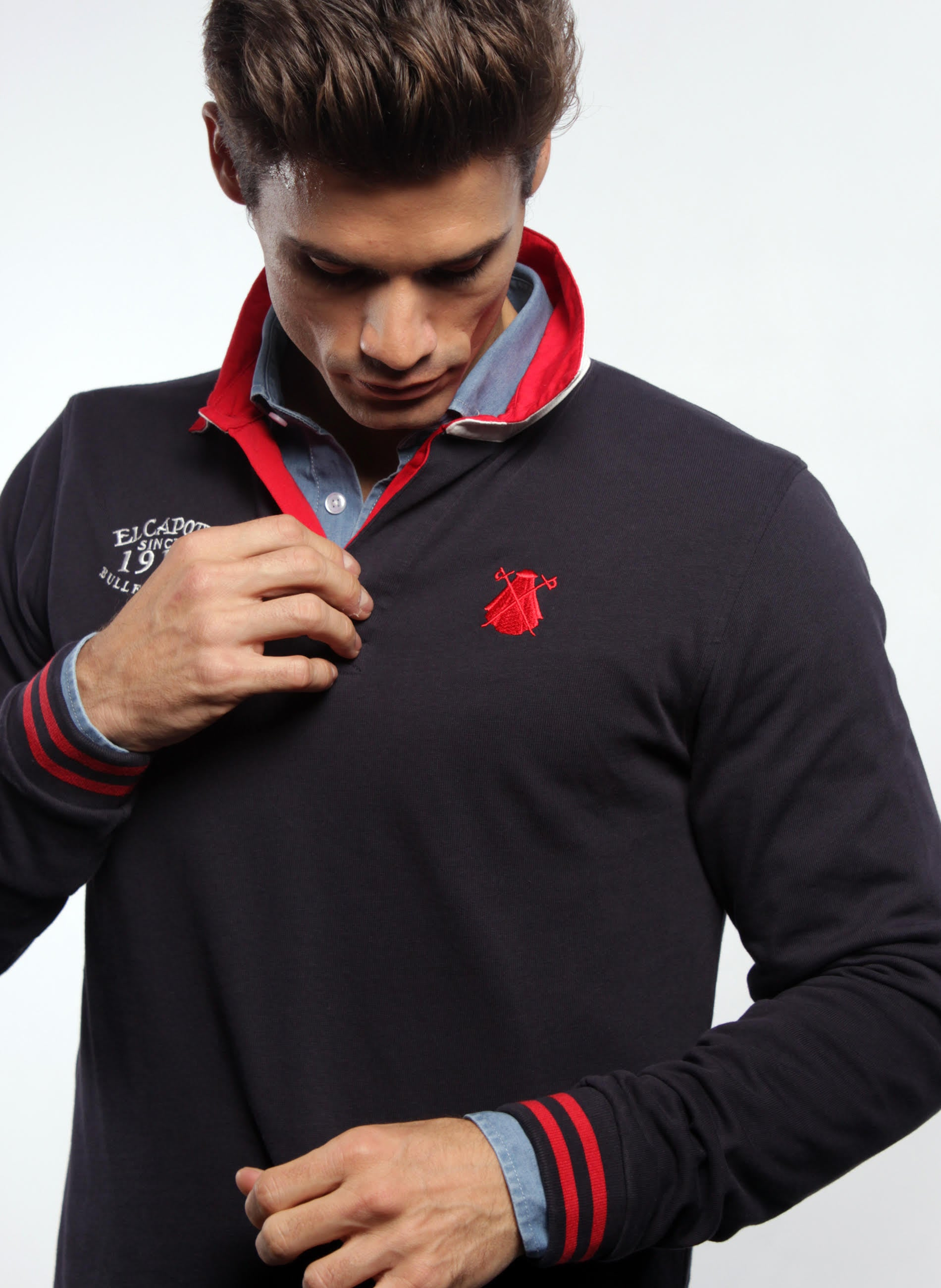 Navy Blue Rugby Polo