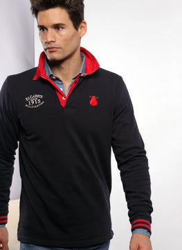 NAVY BLUE RUGBY POLO MAN