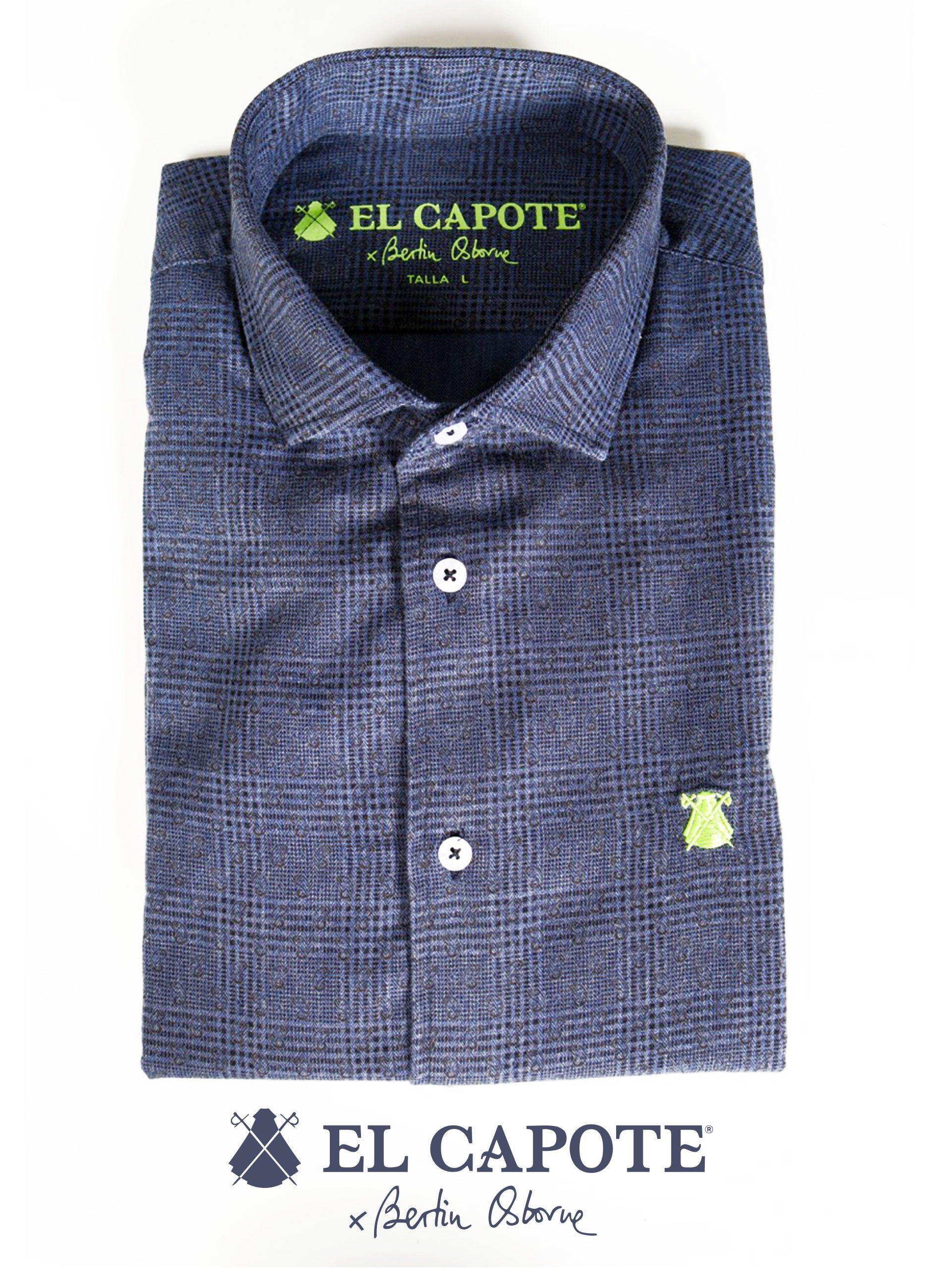 Prince of Wales Blue x Bertín Osborne Men's Shirt