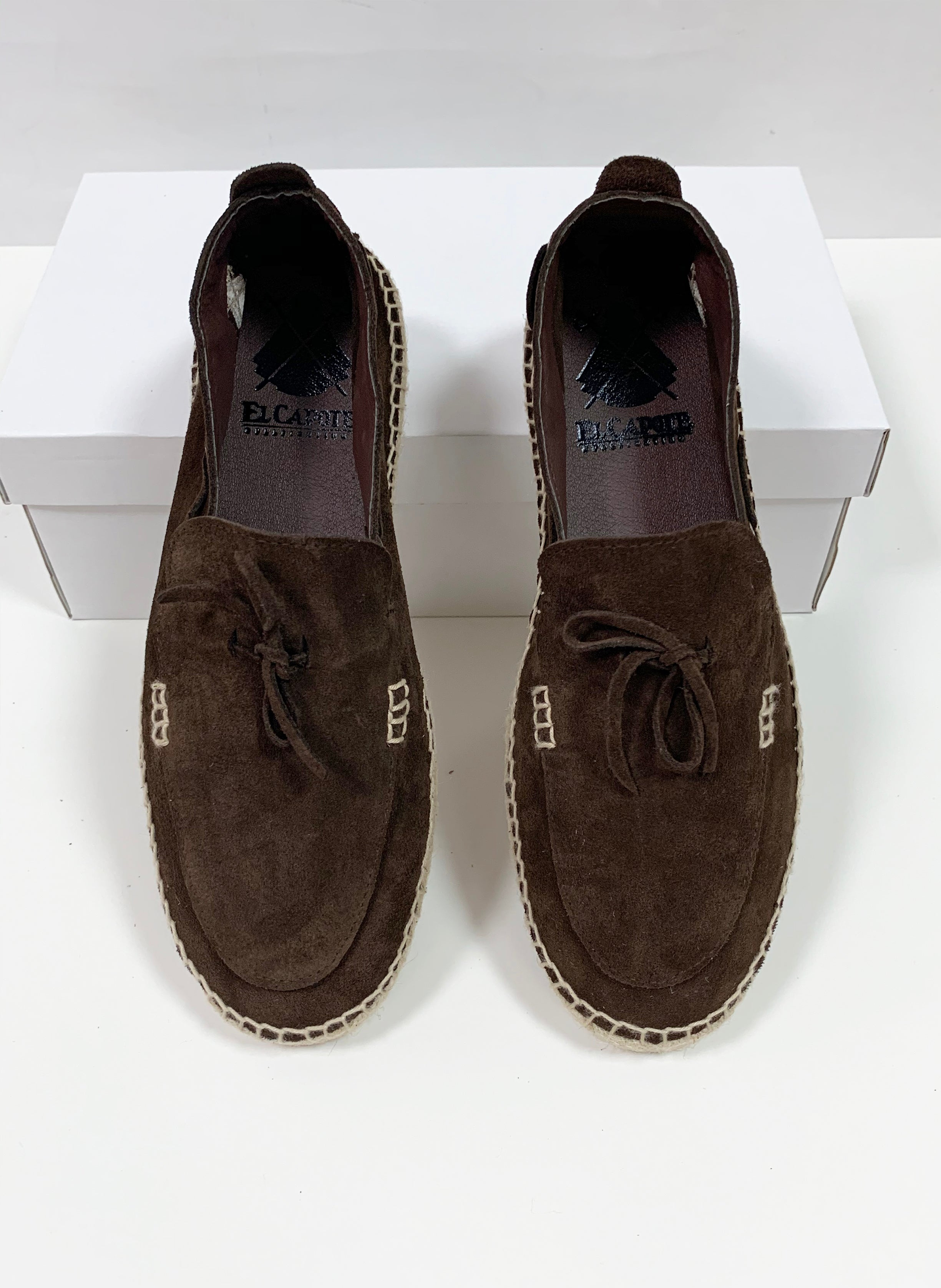 Chocolate Brown Split Leather Split Espadrille