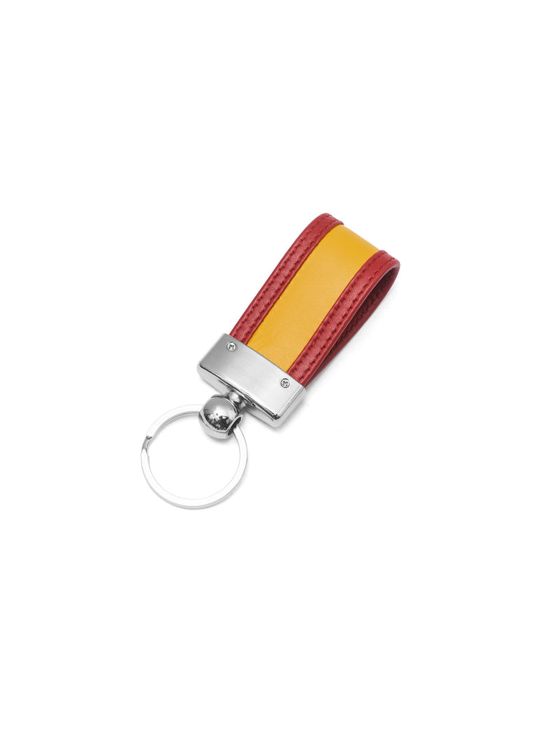SPAIN KEY RING IN LEATHER