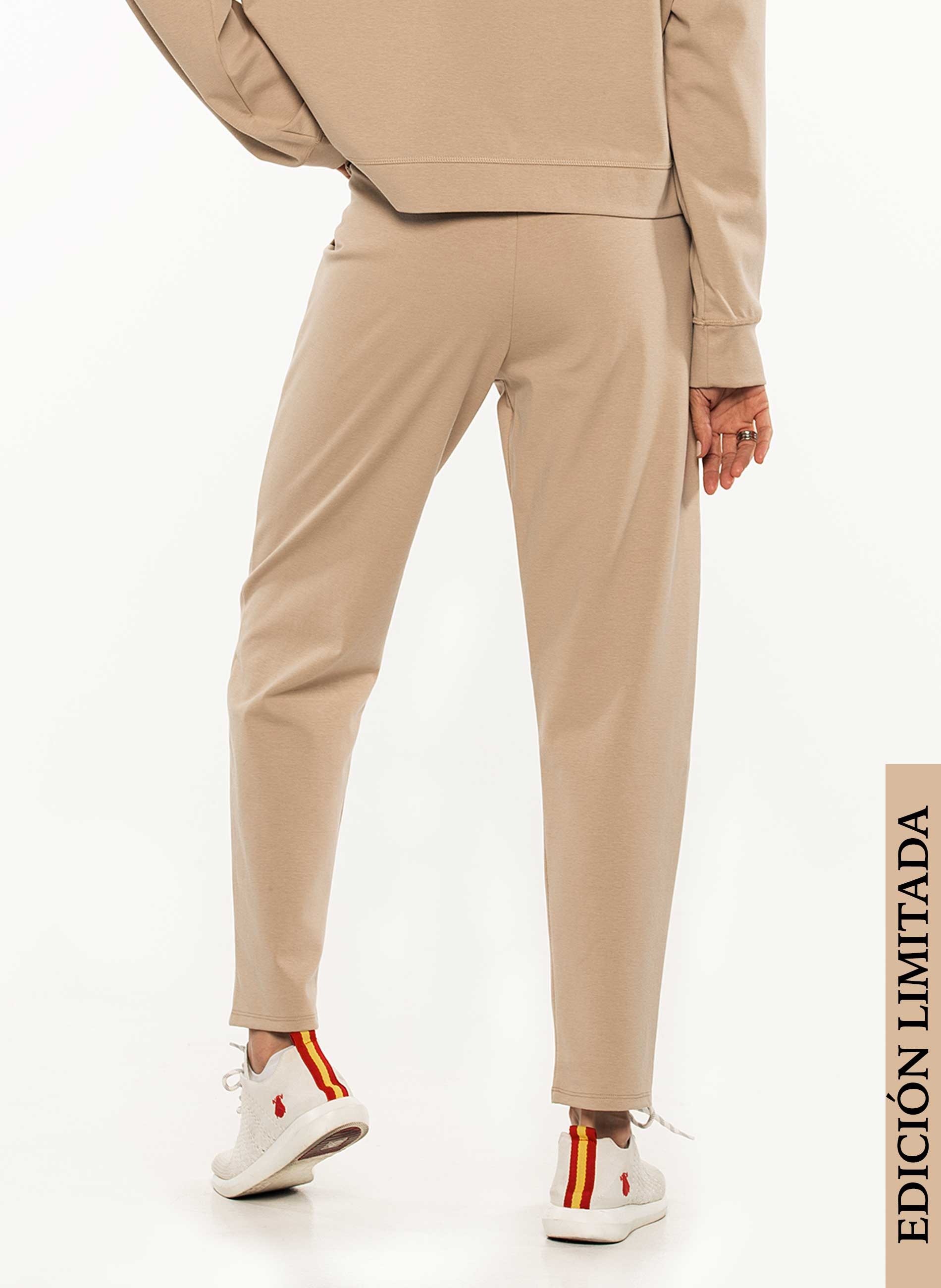 Tracksuit Pants Woman Beige Limited Edition