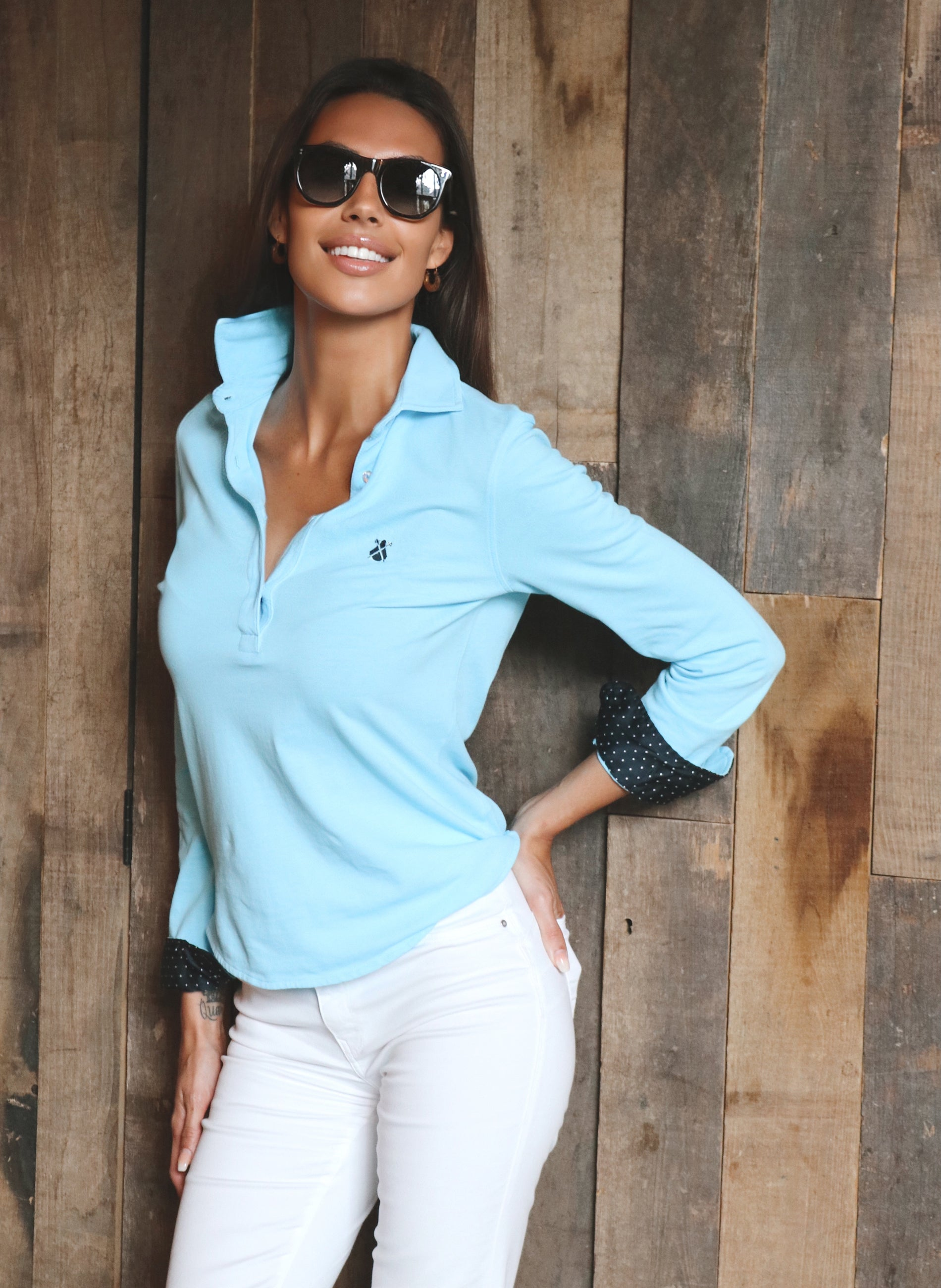 Turquoise T-shirt Woman