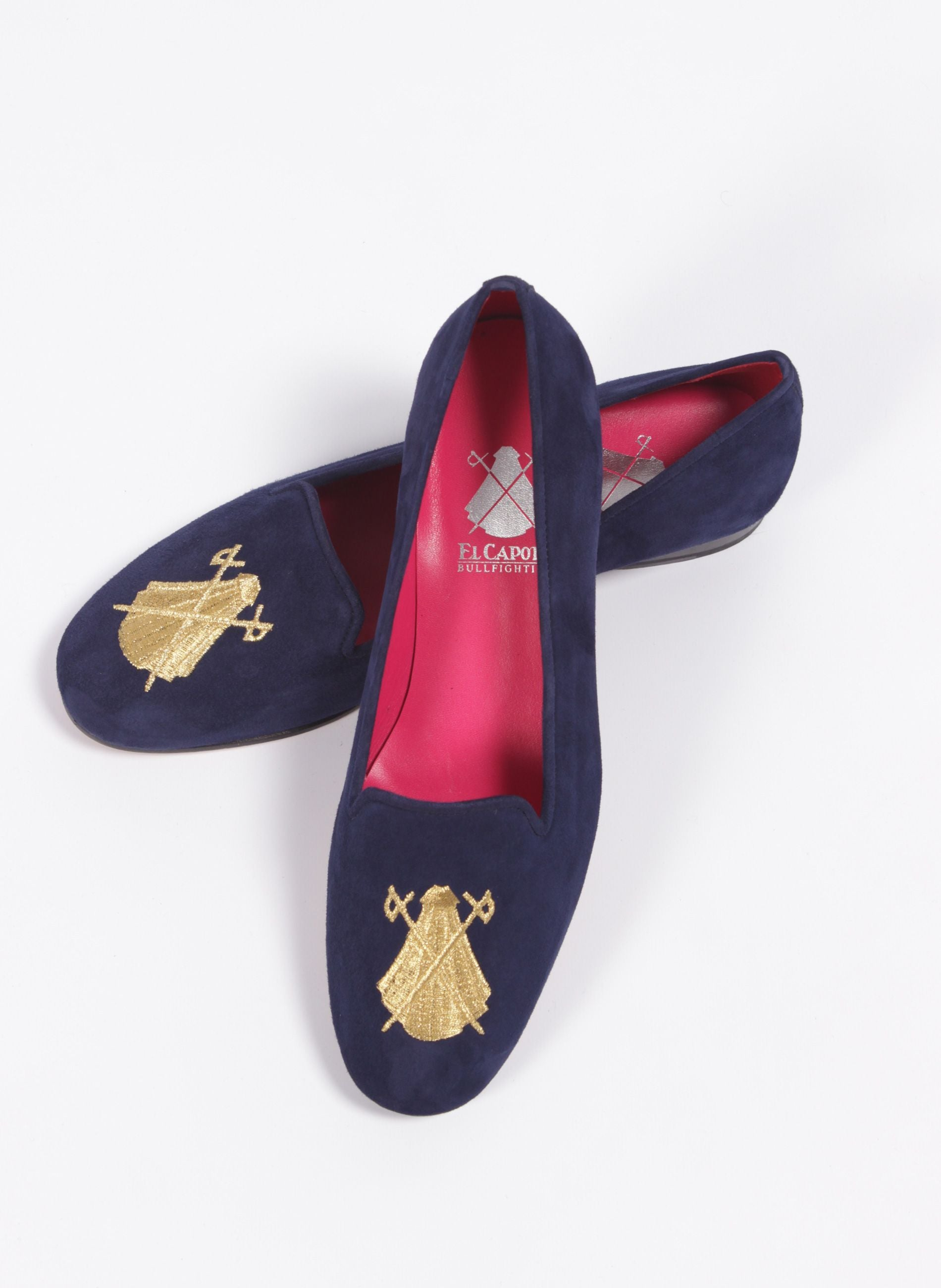SLIPERS WOMAN WITH BLUE GOLD LOGO