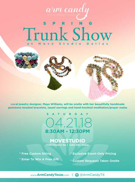 yoga dallas studio spring trunk show malas om