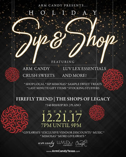 holiday sip and shop dallas plano shopping mimosas christmas