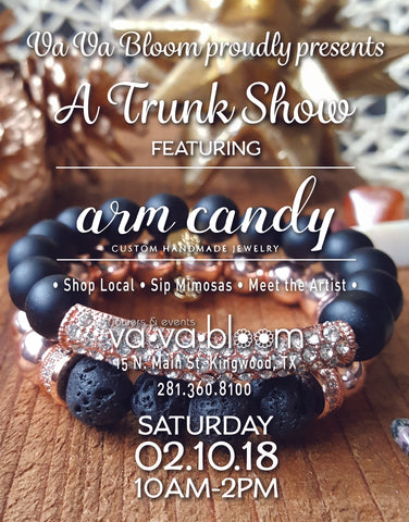 trunk show arm candy jewelry houston dallas shopping valentines day