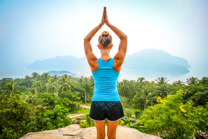 meditation yoga vacation peace calm tropical mountains serenity