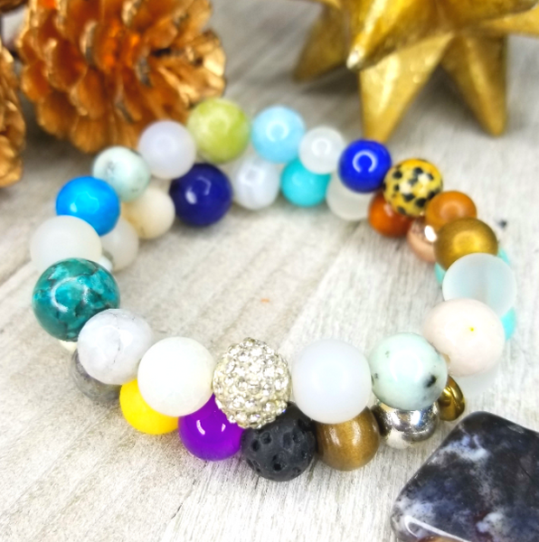Mixed Gemstones Bracelet Set
