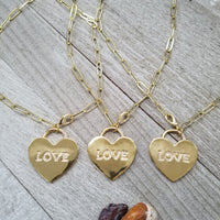 Gold plated Love Charm Chain