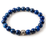 Blue Lapis Lazuli with Silver Pewter Accent