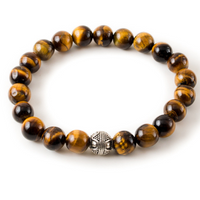 Brown Tiger's Eye with Silver Pewter Accent