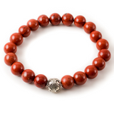 Red Jasper with Silver Pewter Accent