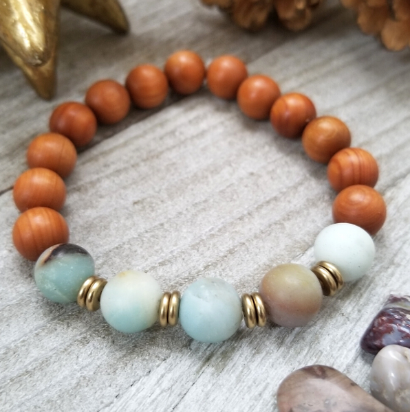 Barbie Sandalwood With Amazonite