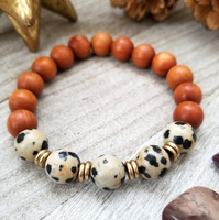 Barbie Sandalwood With Dalmatian Jasper