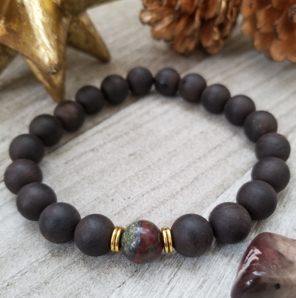 Copy of Ebony Sandalwood With African Bloodstone