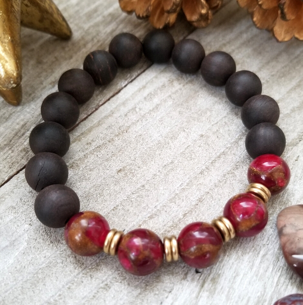Ebony Sandalwood With Mosaic Quartz