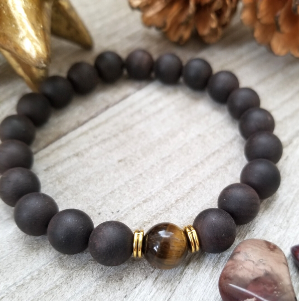 Ebony Sandalwood With Brown Tigers Eye