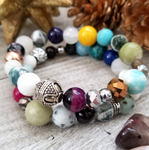 Mixed Gems Bracelet Set