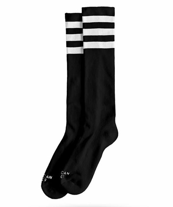 American Socks Back In Black Knee-High Skate Socks | Rebel Rebel Bruges