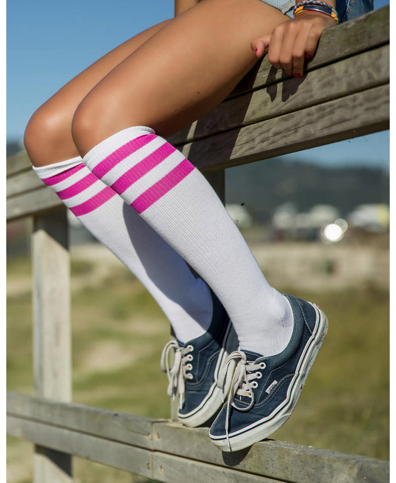 American Socks Lavigne Pink Knee-High Skate Socks | Rebel Rebel Bruges