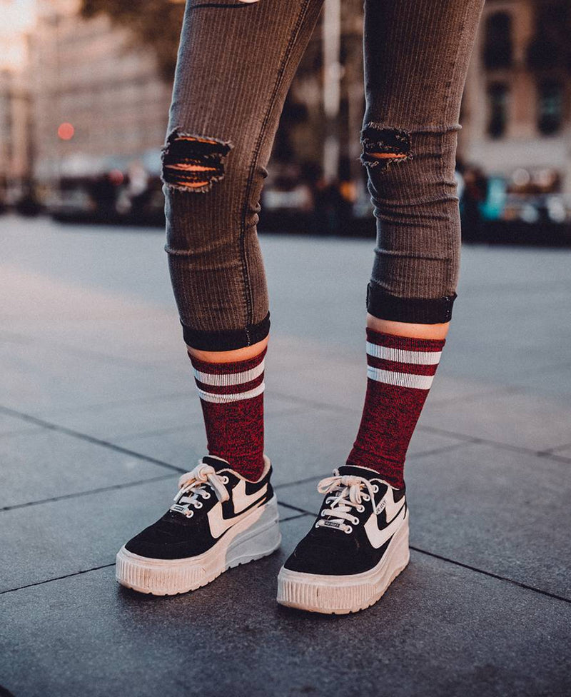American Socks RedNoise Mid-High Skate Socks | Rebel Rebel Bruges