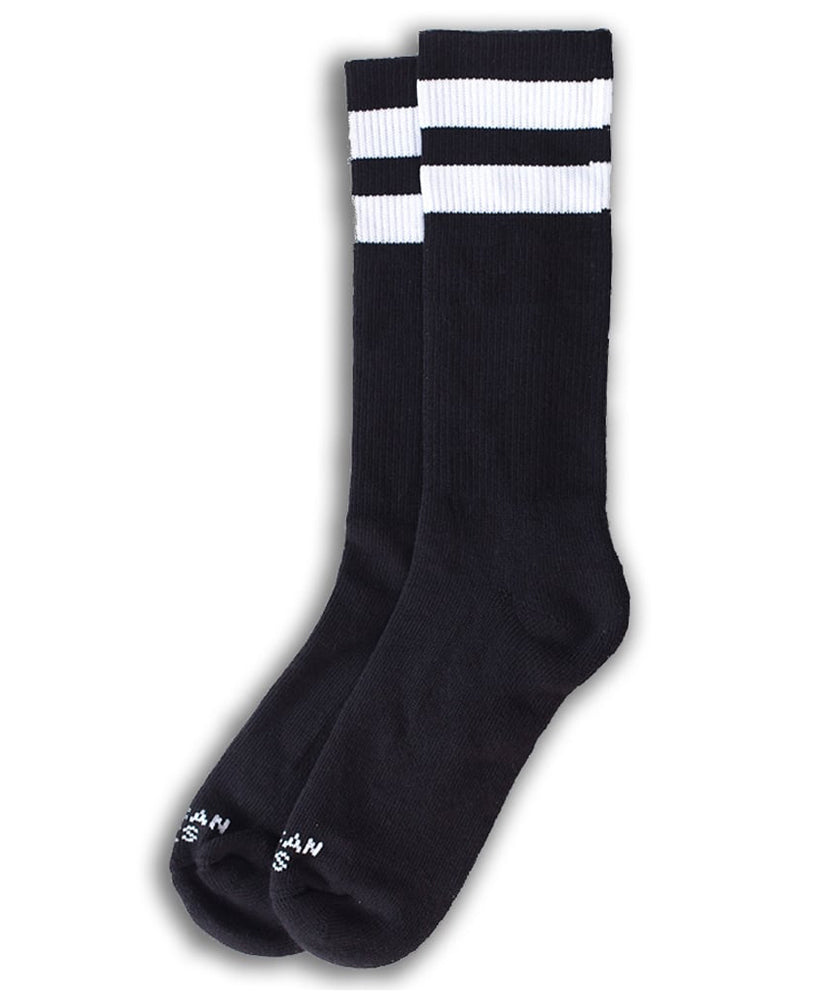 American Socks Back In Black I Mid-High Socks | Rebel Rebel Bruges