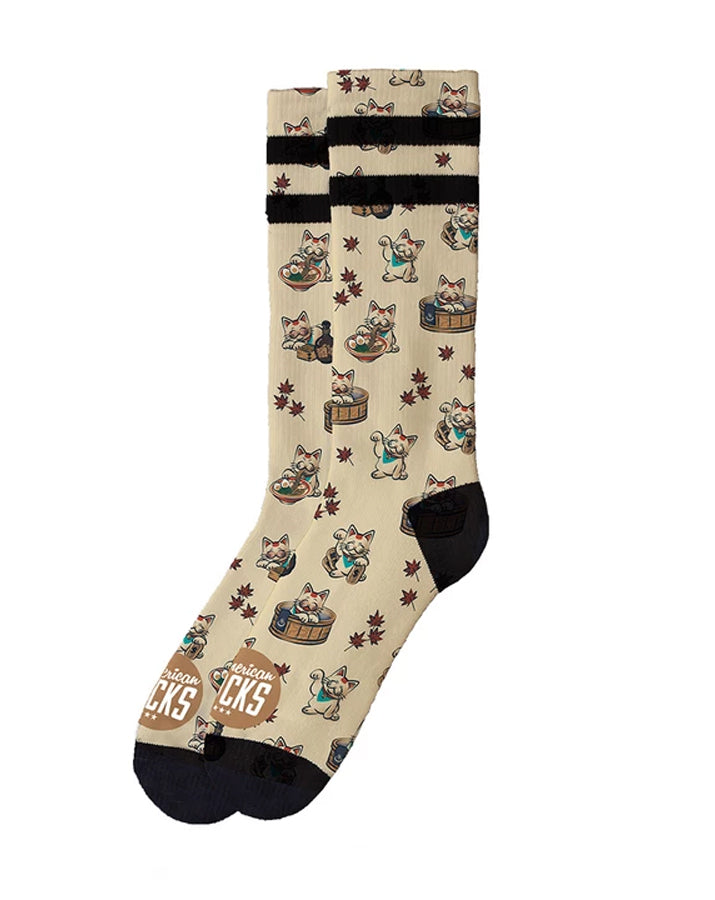 American Socks Maneki Neko Mid-High Skate Socks | Rebel Rebel Bruges