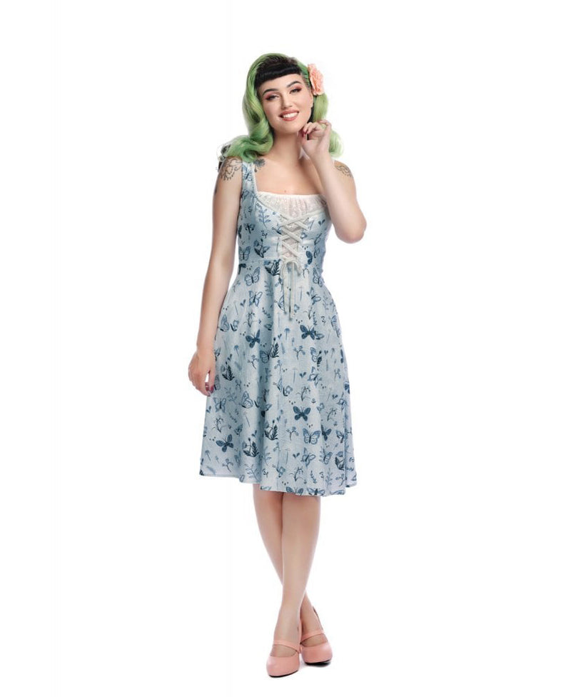 Collectif Bridget Butterfly Vintage Swing Dress | Rebel Rebel Bruges