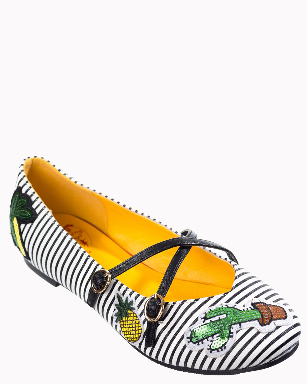 Dancing Days Prickly Sue Cactus Flat Shoes | Rebel Rebel Bruges